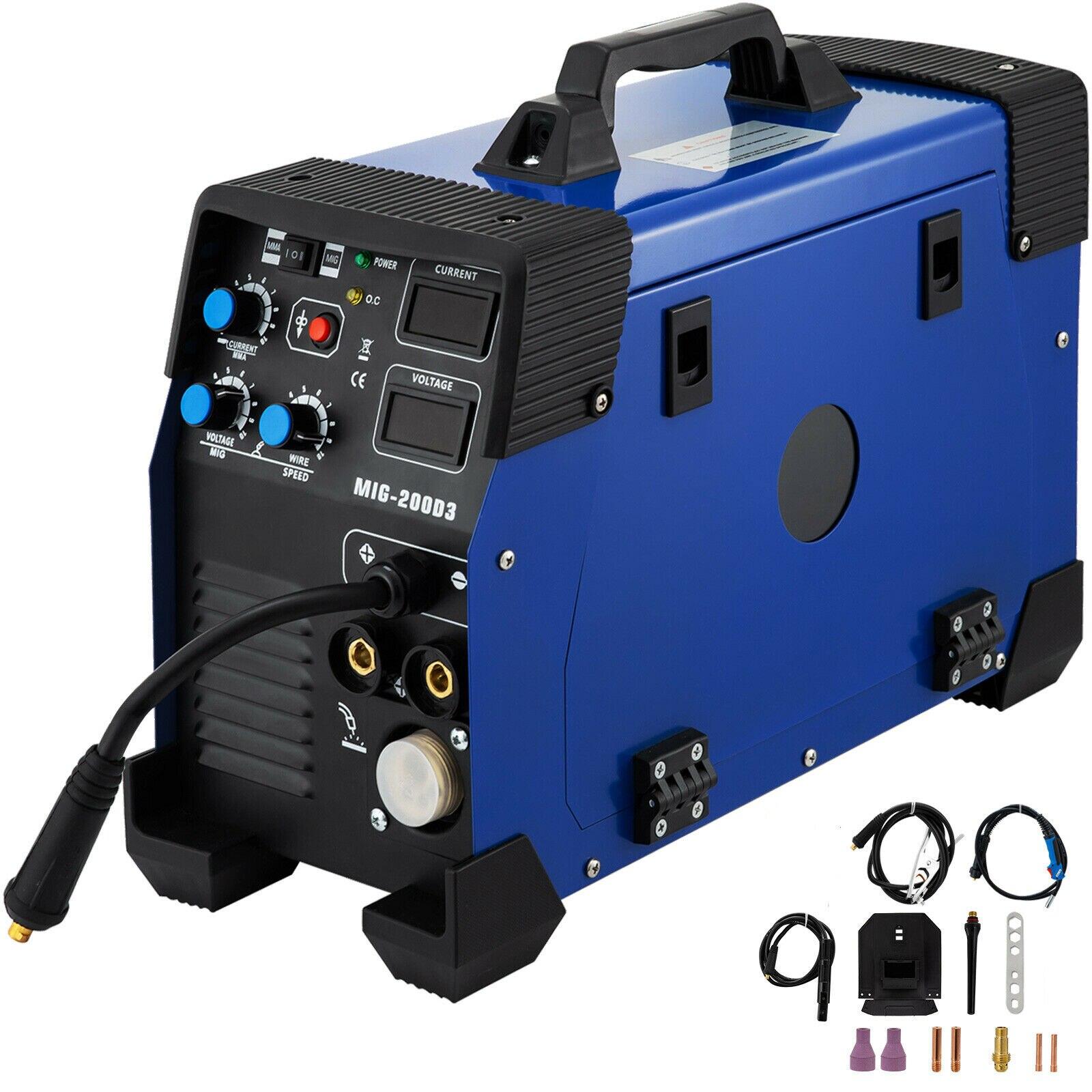 Welding Machine MIG/MMA/TIG/MAG/FLUX Inverter Welder 200Amp