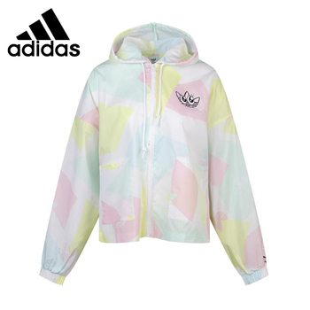 Original New Arrival  Adidas Originals Graphic WindBr Women's  jacket Hooded  Sportswear