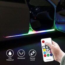 2x Remote Control Car Door Opening Warning Signal Lamp Anti Collision Wireless Flash Light Security Side Strobe Strip