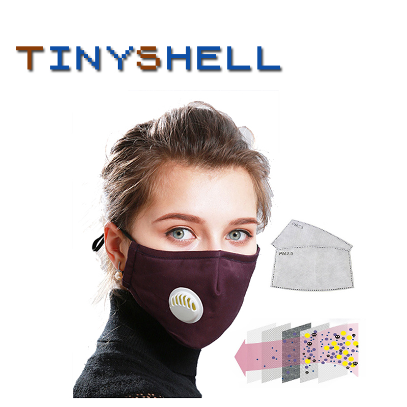 Anti Pollution  PM2.5 Ffp2 Mouth Mask Dust Respirator Reusable Masks Cotton Unisex Mouth Muffle For Allergy/Asthma マスク