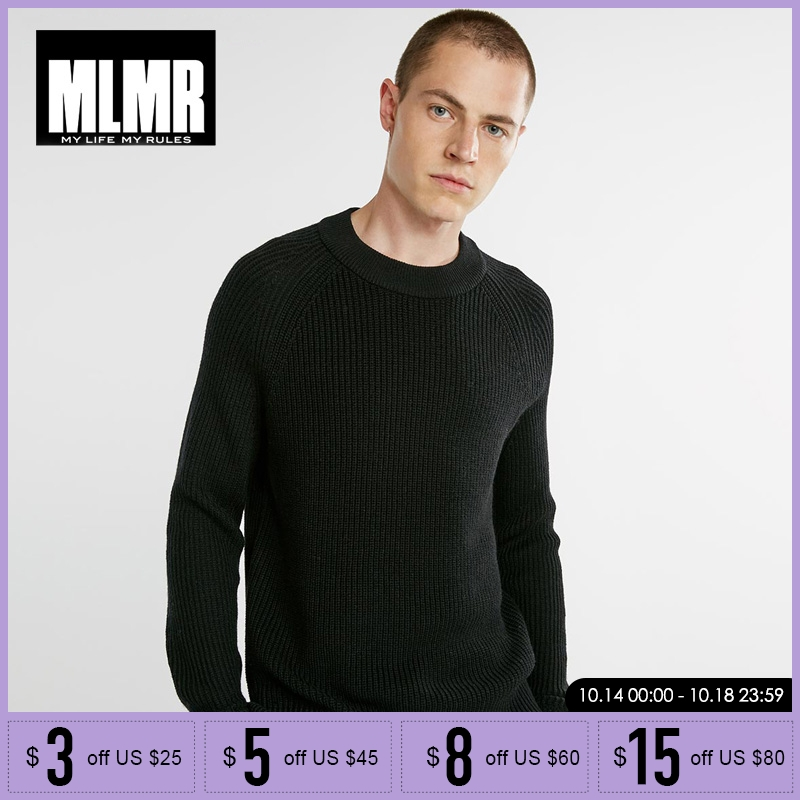 MLMR Men Wool Blended Leisure Knit Sweater  218325502