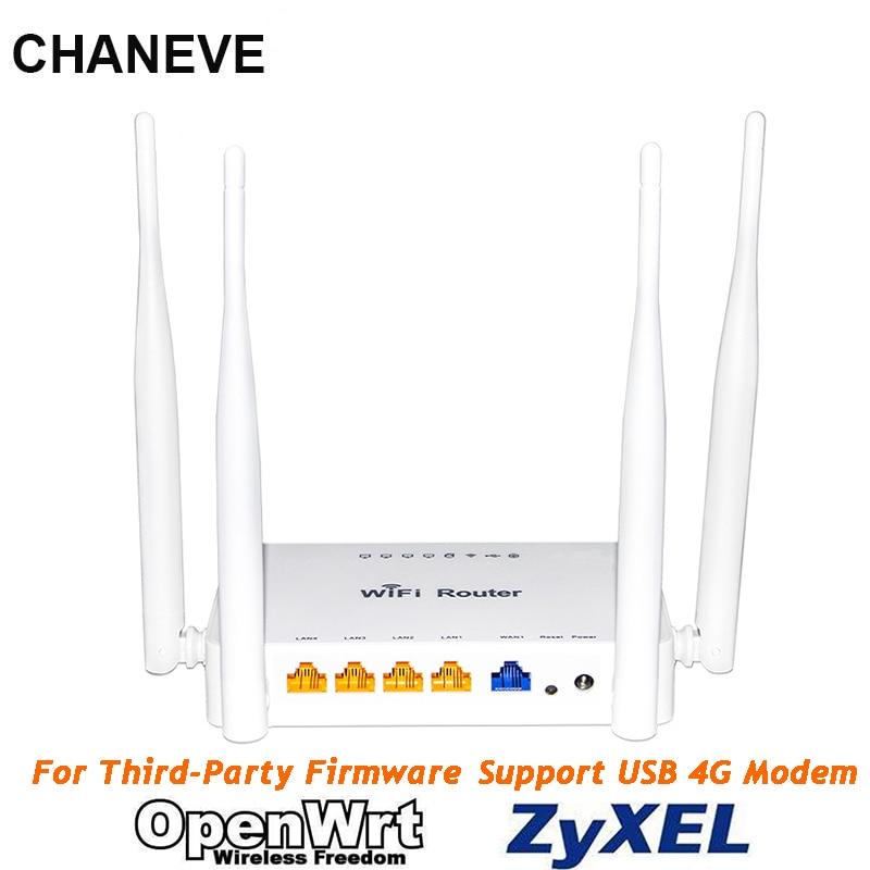 CHANEVE 802.11n 300 Мбит/с Беспроводной Wi-Fi маршрутизатор MT7620N Чипсет Поддержка Padavan/Omni II/OpenWRT/OS встроенное программное обеспечение для 3G 4G USB модем