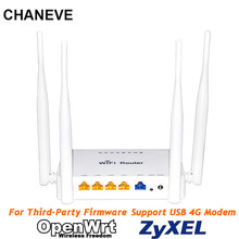Chaneve 802.11n 300Mbps Draadloze Wifi Router MT7620N Chipset Ondersteuning Padavan/Omni Ii/Openwrt/Os Firmware Voor 3G 4G Usb Modem(China)