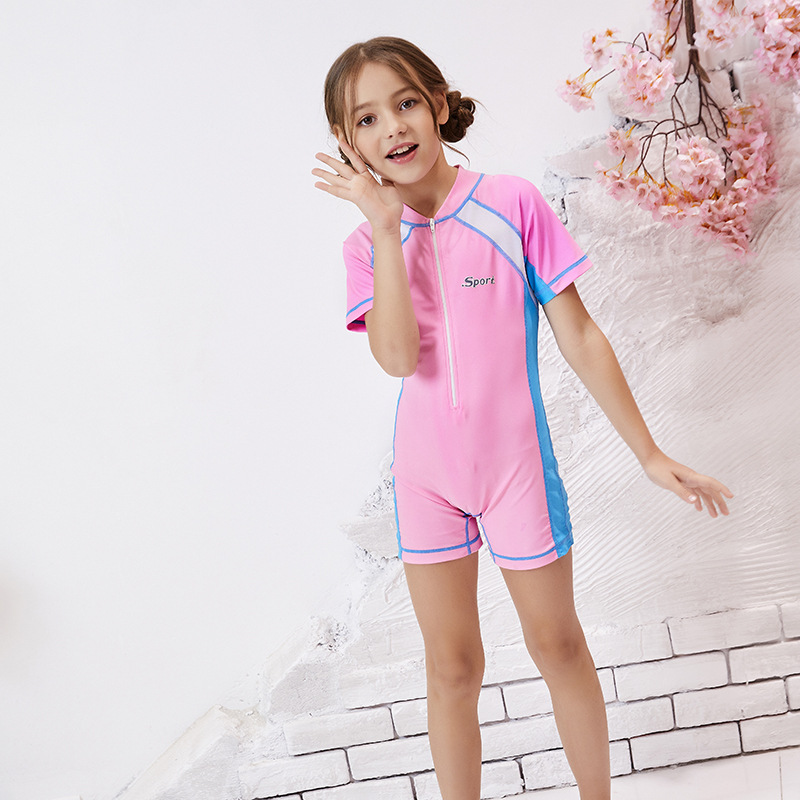 One-piece Swimsuit For Children Men And Women Children's Sun Protection Clothing Quick-Dry Big Boy Students Baby Diving Suit Spo
