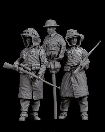 1/35 Modern British Man Set  Stand   Resin Figure Model Kits Miniature Gk Unassembly Unpainted