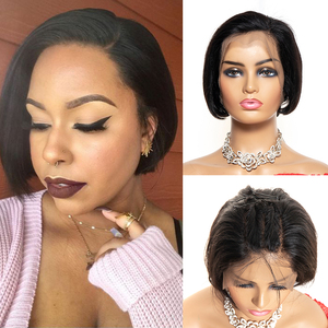 Pixie Cut Wig 13x4 Bob Lace Front Wigs Brazilian Remy Lace Front Human Hair Wigs 130% Short Human Hair Wigs With Baby Hair