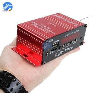 Image 3 - 200W 12V Auto Audio Bluetooth Verstärker HIFI Home Stereo FM Radio USB AUX TF Led bildschirm 2CH Power verstärker mit Fernbedienung