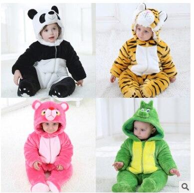 Bébé hiver thermique costume personnalisé Animal barboteuse combinaison bébé vêtements