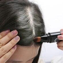 Натуральные травы белые волосы покрытие Ручка длительный коричневый черный Временная Краска Ручка цвет волос длительный черный коричневый временные волосы