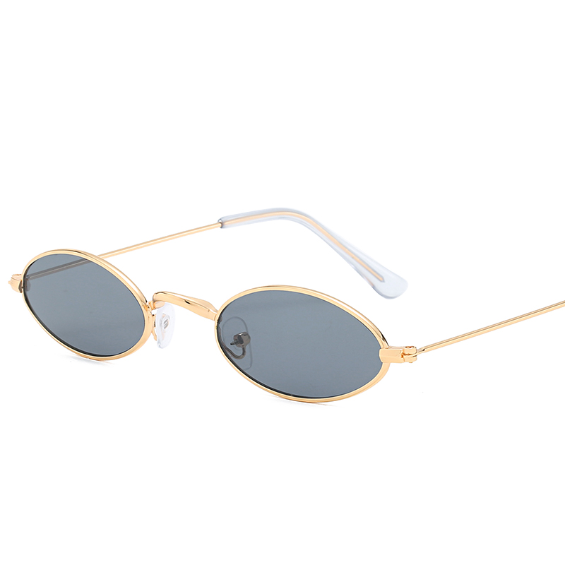 Brand Designer Small Round Oval Sunglasses Women Men Clear Color Lenses Unisex Ellipse Sun Glasses For Women Female UV400