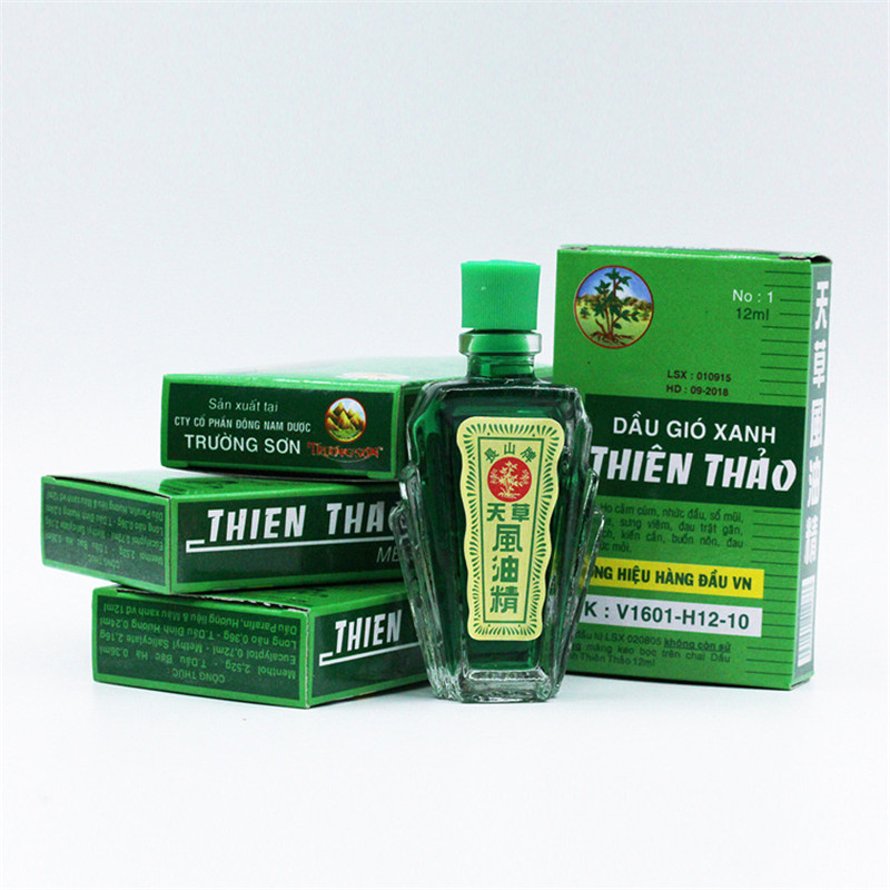 5PCS 12ml Refreshing Oil Vietnam Balm For Headache Dizziness Medicinal Oil Pain Rheumatism Abdominal Pain Fengyoujing