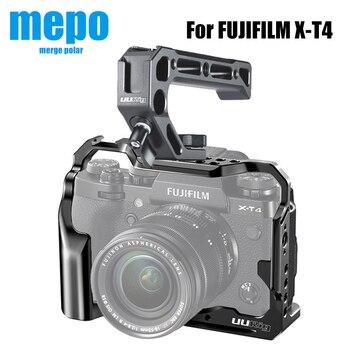 C-XT4 kamera fémketrec cipőtartóval a FUJIFILM X-T4 fényképezéshez és videofelvételhez teljes ketrecben található mikrofon LED fénymenetes furatok