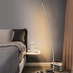 AC85-265V curva canto piso minimalismo led escurecimento lâmpadas atmosfera de pé interior luminárias para sala estar quarto
