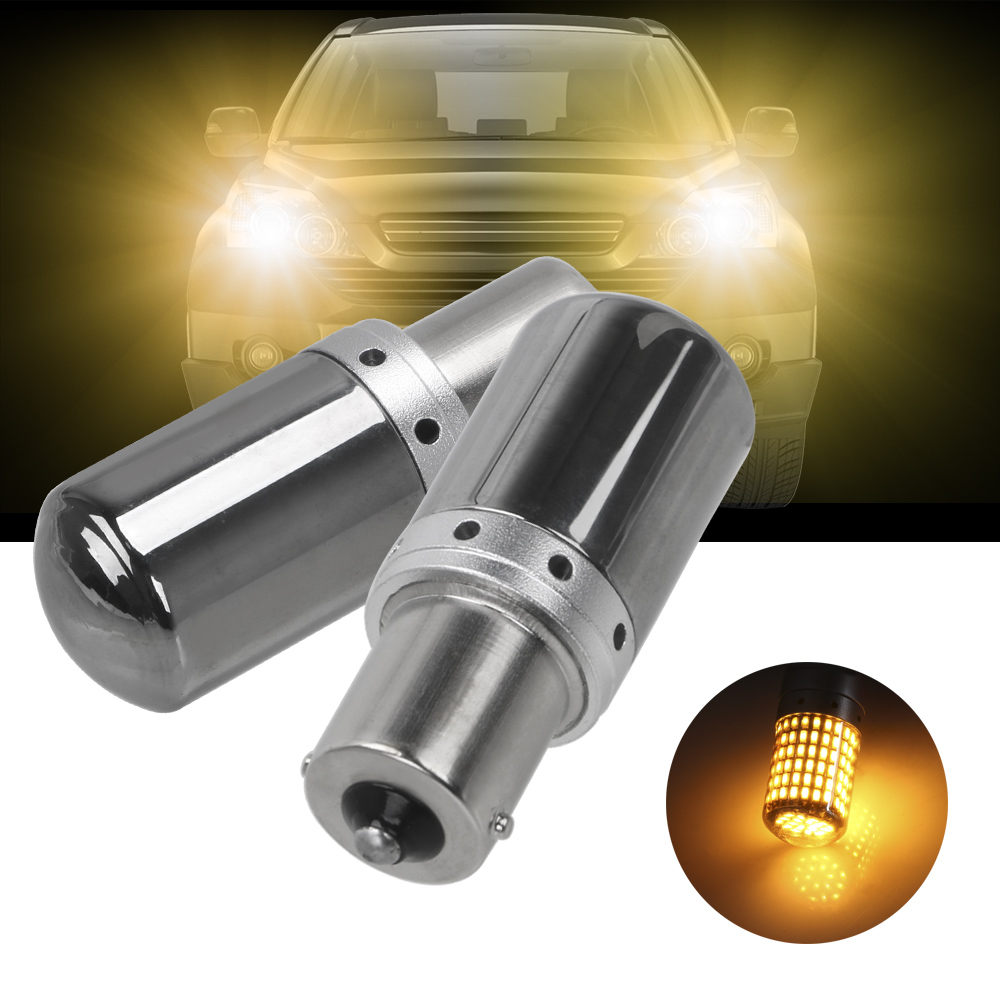LEEPEE Auto <font><b>Led</b></font> Brems Lampe 1156 BA15S P21W T20 7440 W21W <font><b>Led</b></font>-lampen 3014 144smd 1Pcs CanBus Fehler Freies canbus Blinker Lichter image