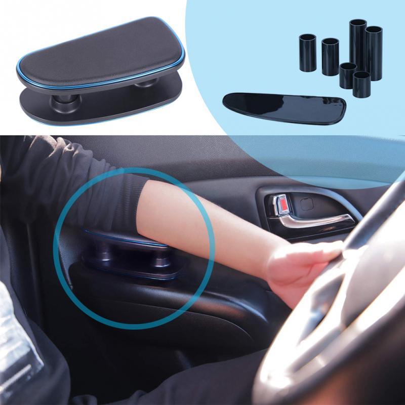 Ajuste universal antifatiga para automóvil, reposabrazos para la mano izquierda, soporte para codo, soporte para instalación, alfombrilla de silicona