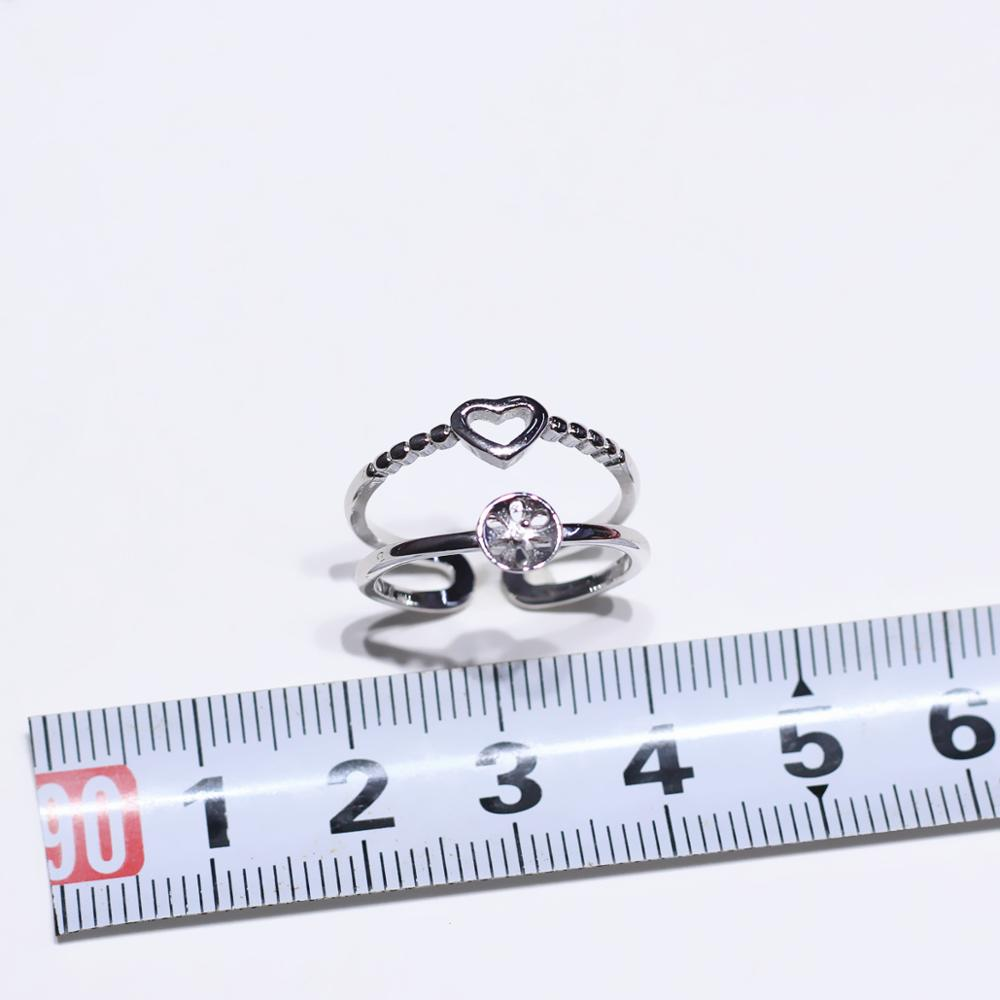 Love Ring Mountings Base Findings Wholesale 925 pure silver Ring Setting Base Adjustable Ring Jewelry Setting Parts