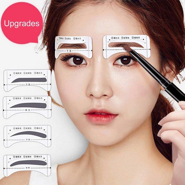 Stickable Artifact Thrush Aid Card Eyebrows Mold Thrush Card 8 Pairs Eyebrow Makeup Tools Makeup Accessories 3