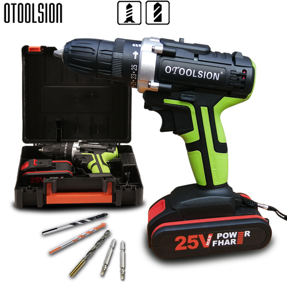 25V Electric Drill Battery Drill Power Tool Set Cordless Screwdrivers Electric Drill Screwdriver+ Drill Parts инструмент электро