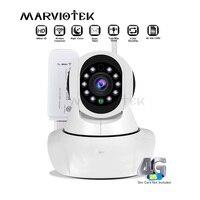 720 p câmera ip sem fio wifi alarme wi fi câmera de vigilância de vídeo 360 graus pan tilt 4g lte fdd cctv câmera 3g sim slot para cartão Câmeras de vigilância     -