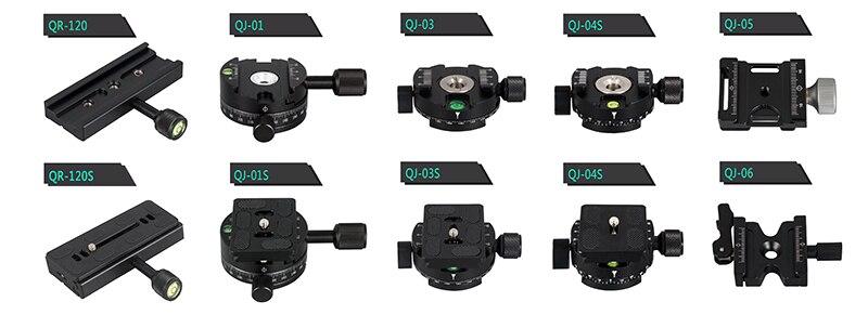 Панорамная головка штатива с поворотом на 360 градусов, быстросъемный зажим с винтом 1/4 для камеры Arca Swiss Clamp