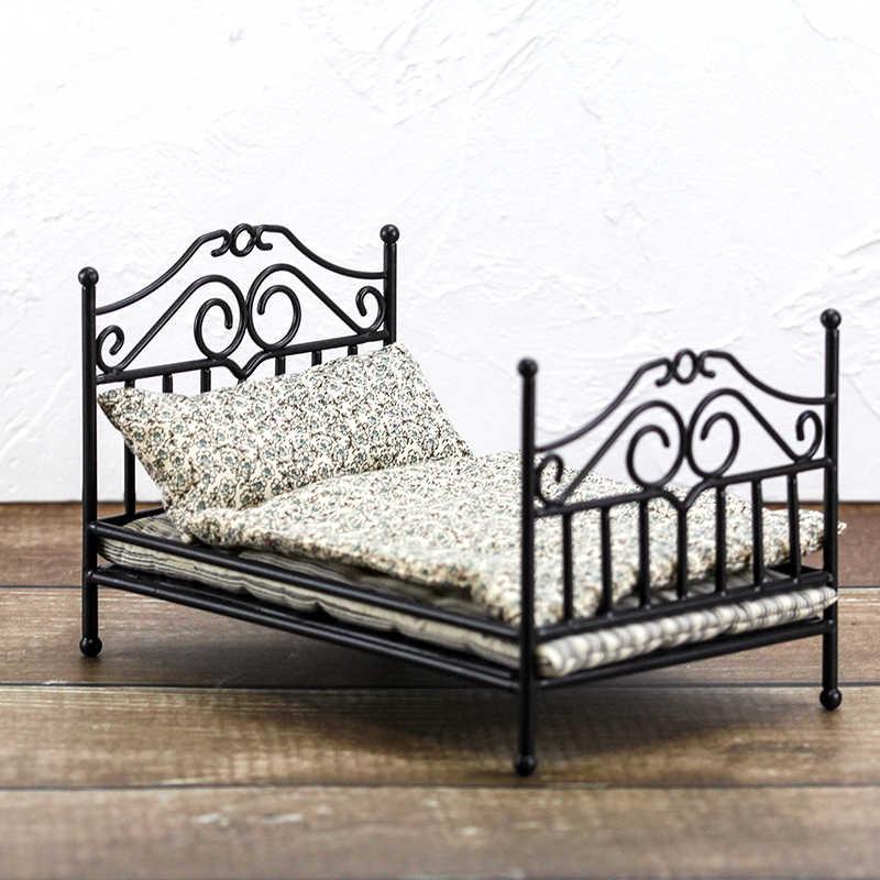 Blyth кукольный домик мебель 1/12 1/8 Mental винтажная черная кровать для беременных набор для комнаты OB11 BJD Lol кукольные аксессуары Детская колода стул игрушка