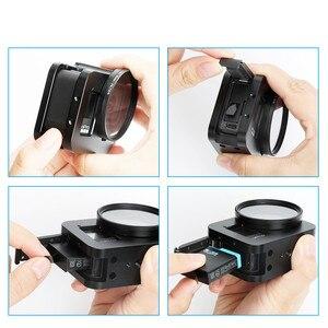 Image 4 - Marco protector para cámara GoPro Hero 8, carcasa de aleación de aluminio con diseño de montaje en tres direcciones, multiángulo, accesorios para cámara negra