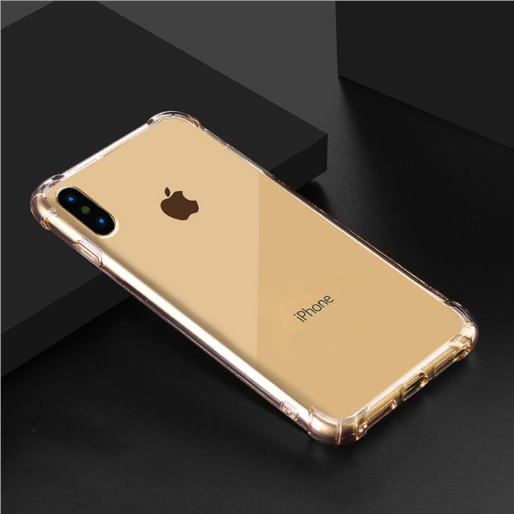 Luxury Shockproof Silicone Phone Case For iPhone11 X XS XR XS Max 8 7 Plus 6 6S Plus 5 5S Case Transparent Protection Back Cover