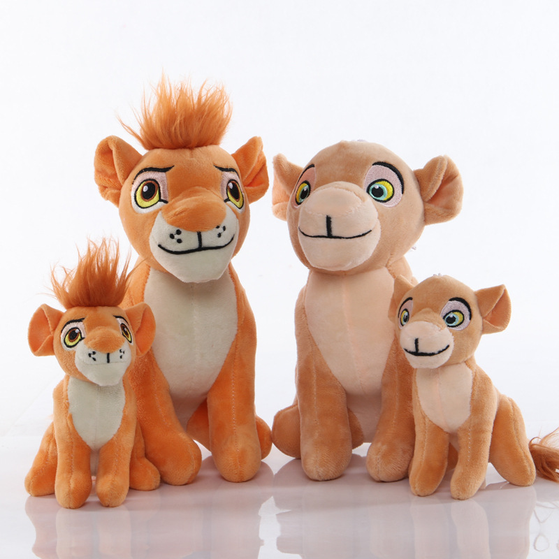 1pcs Cute Sitting High Simba The Lion King Plush Toys Anime Simba Soft Stuffed Pendant Clip Keychain Toy For Christmas Gifts