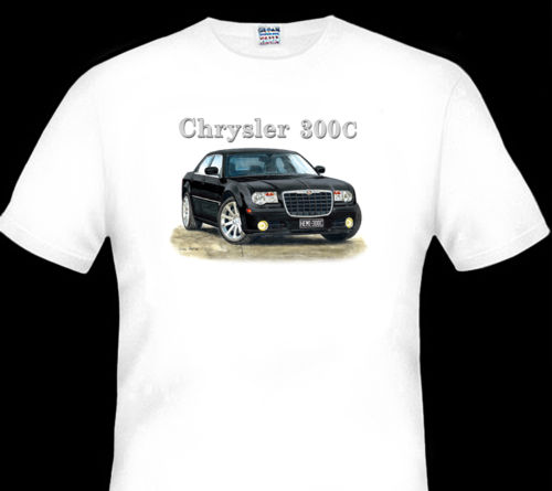 CHRYSLER 300C QUALITY WHITE TSHIRT BIG FIT