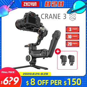 Image 1 - Zhiyun מנוף 3 S/SE Gimbal מייצב 3 ציר כף יד Gimbal 6.5kg מטען שידור תמונה עבור DSLR מצלמה VS מנוף 2