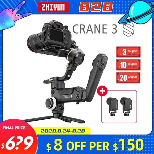 Zhiyun מנוף 3 S/SE Gimbal מייצב 3 ציר כף יד Gimbal 6.5kg מטען שידור תמונה עבור DSLR מצלמה VS מנוף 2