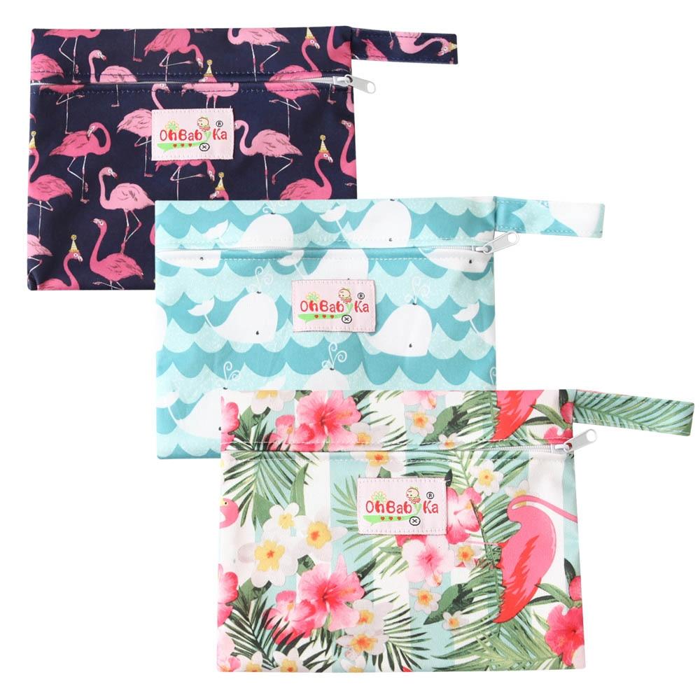 Mini Wet Bag Waterproof Maternity Menstrual Pads Breast Bag Single Zipper Reusable Mama Cloth Sanitray Pads Snack Bag 18*14cm