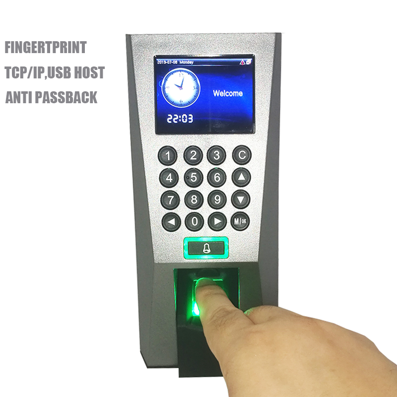 F18 Spanish Menu Fingerprint Access Control System Optional Card Door Lock Controller