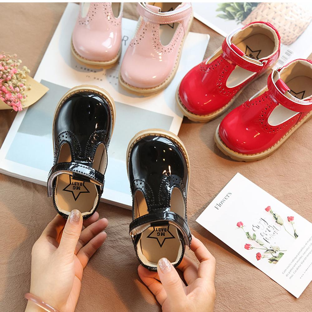 Retro Soft Leather Girls Toddler Shoes Baby Girls Round Toe Flat Rubber Children Boys Girls Casual Shoes #20