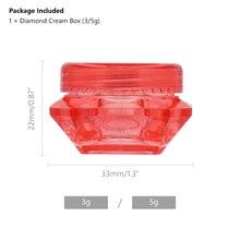 3/5 Gram Cosmetic Transparent Mini Refillable Sample Container Diamond Small Bottle Jar For Cream Lip Balm Powder Toner