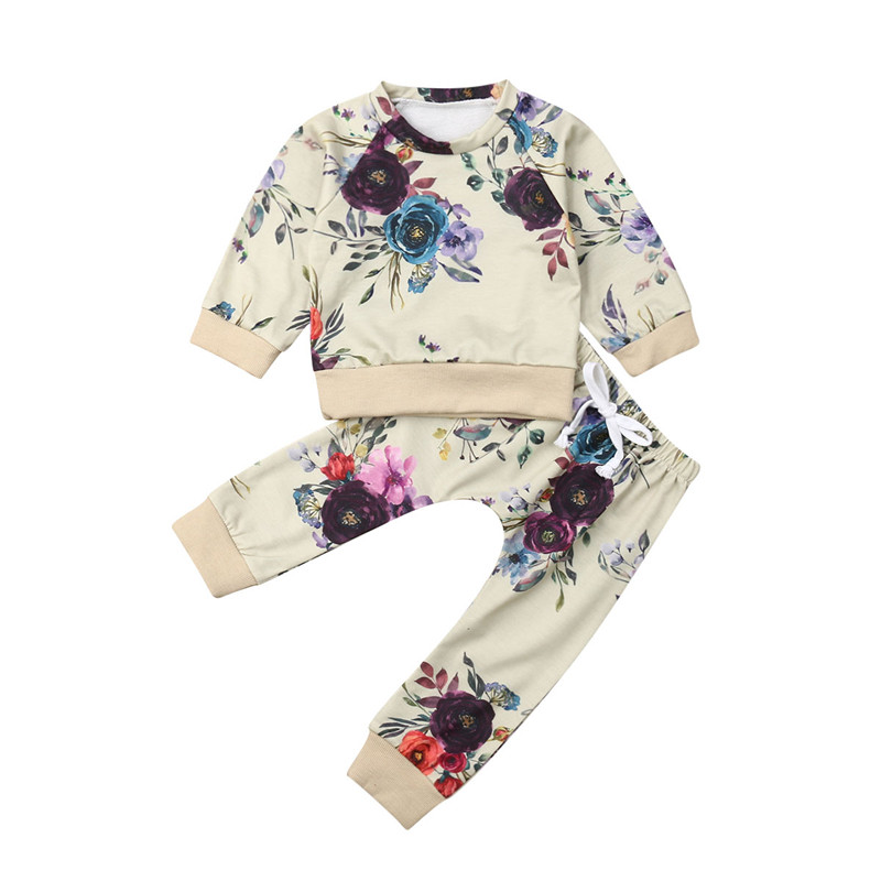 Kids Baby Flowers Clothes...