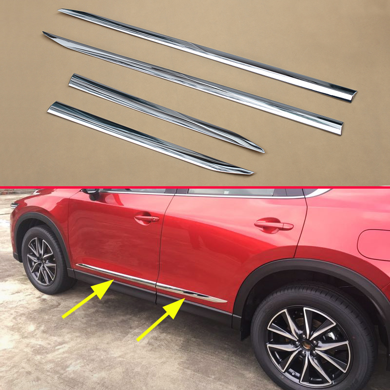 For <font><b>Mazda</b></font> CX-5 2017 <font><b>2018</b></font> 2019 Chrome Door Body Frame Strips Molding Trims Accessories <font><b>CX5</b></font> 2nd Generation image