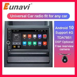 Eunavi Universal 2 din Android 10 Car Radio Stereo multimedia Player WIFI 4G 2din 7 inch GPS Navigation SWC TDA7851 USB NO DVD(China)