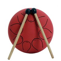 5 Inch Steel Tongue Drum 8 Tune Hand Pan Drum Tank Drum With Drumsticks Carrying Bag Percussion Instruments