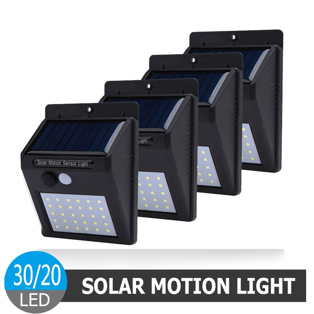 1-4Pcs LED Solar Power Light PIR Motion Sensor Light Outdoor Waterproof Wall Night Lamp Garden Light Energy Saving Street Light