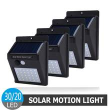 1-4Pcs LED Solar Power Light PIR MOTION SENSOR Lampu Outdoor Tahan Air Lampu Malam Lampu Taman Energi hemat Lampu Jalan(China)