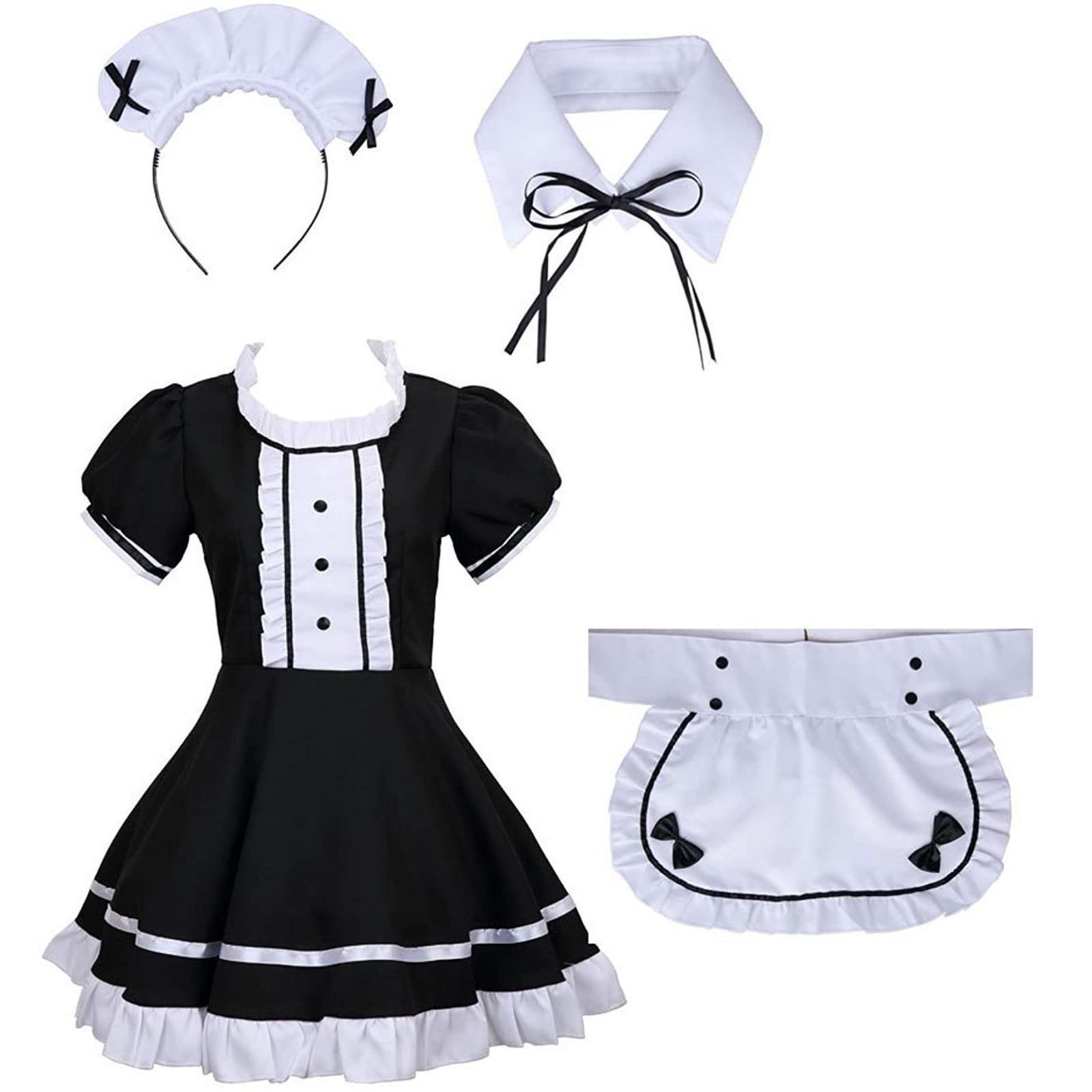 Apron fake collar bowknot dress babydoll underwear clothes underwear maid cosplay dress exotic