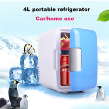Mini Auto Frigorifero Congelatore a Duplice Uso 4L Uso Domestico Auto Frigoriferi Ultra Silenzioso a Basso Rumore di Raffreddamento Riscaldamento Box Frigorifero