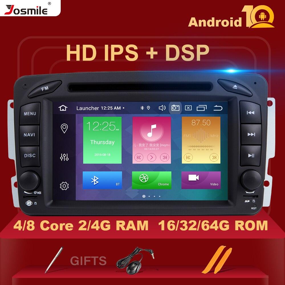 Автомобильный DVD-плеер IPS DSP 4 Гб ОЗУ 2din Android 10 для Mercedes Benz CLK W209 W203 W463 W208 Multimeida GPS Радио стерео камера RDS