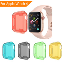5 Colors Soft Tpu Case Cover Screen Protector Watch Shell for Iwatch Apple Watch Series 4/3/2/1 38mm 40mm 42mm 44mm Smart Watch цена и фото