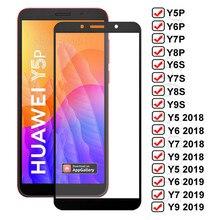 Vidro De Proteção Para Huawei Y5P 11D Y6P Y7P Y8P Y6S Y8S Y9S Y5 Lite Y6 2018 Y7 Vidro Temperado Pro Y9 Prime 2019 Protetor De Tela