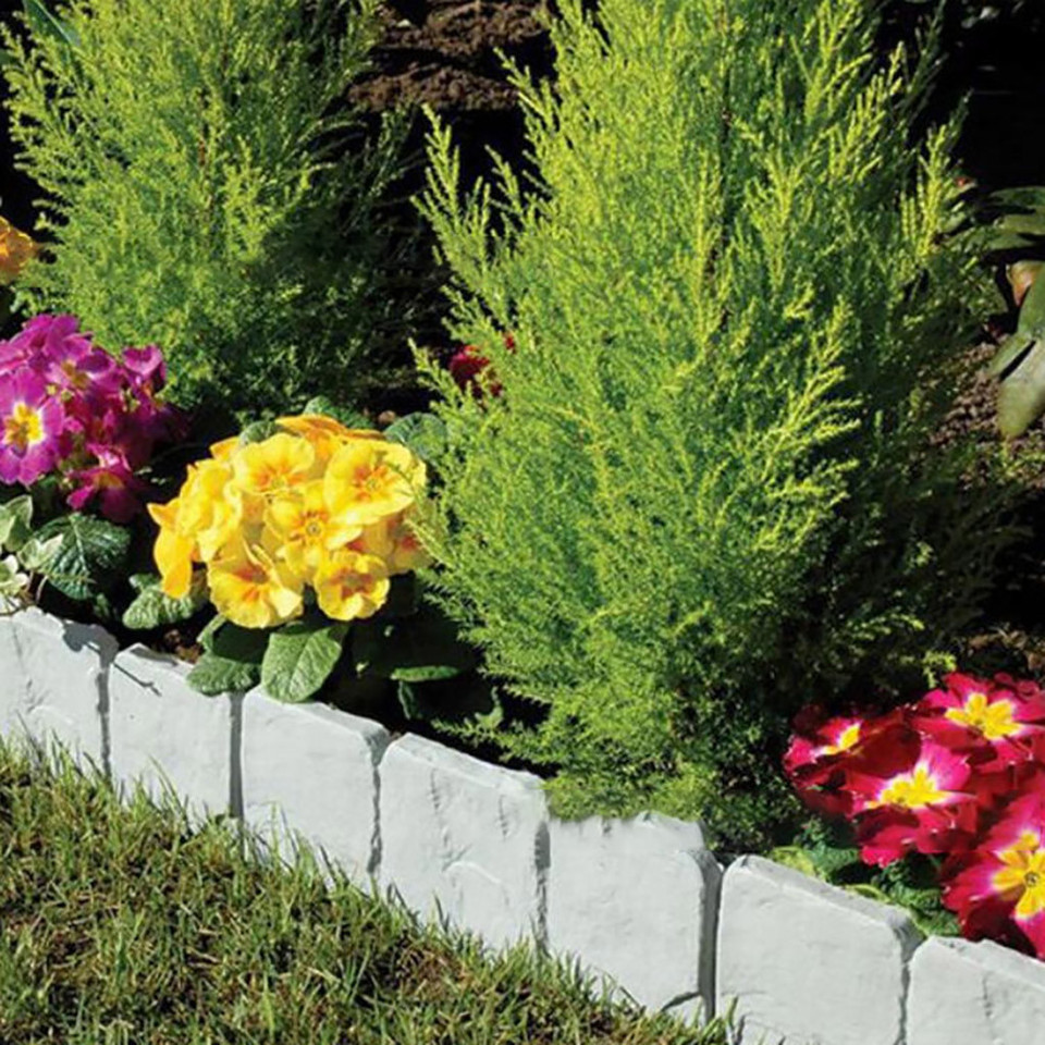 Home Garden Border Edging Plastic Fence Stone Lawn Yard Flower Bed