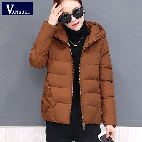 Vangull Winter Women Coat Parkas Solid Hooded Jacket 2019 Casual New Zipper Plus Size Loose Thick Outerwear Long Sleeve coat Lahore