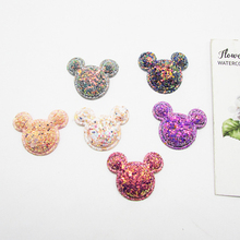 Hair-Clip-Accessories Animals-Patches Wedding-Decoration Appliqued Glitter Diy Craft