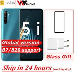 Versão global reyno 5i Moblie Telefone Snapdragon 665 AIE 6.5 ''Tela Cheia 10W Carregador 5000mAh quad câmera celular